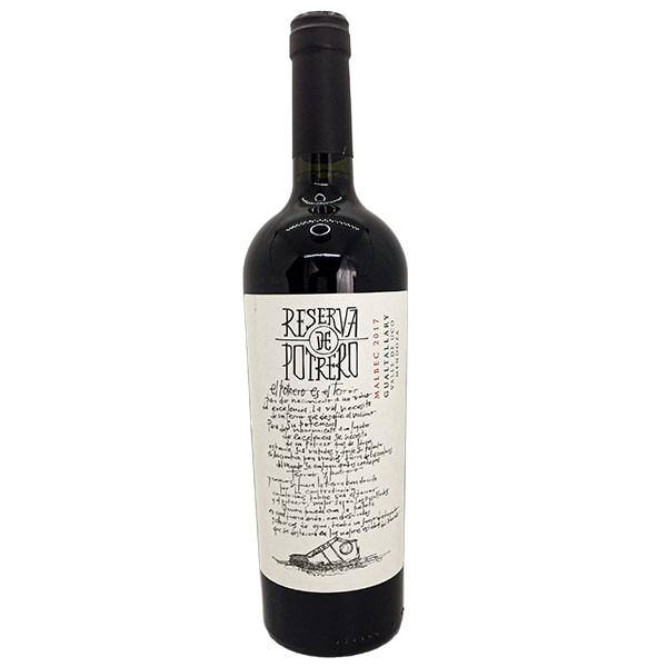 vino reserva de potrero malbec