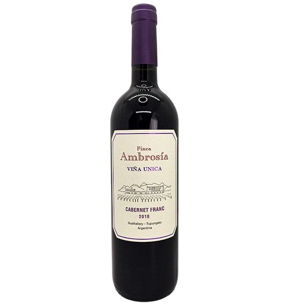 vino ambrosía viña única cabernet franc vino tinto