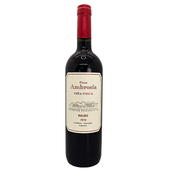 vino ambrosía viña única malbec vino tinto malbec