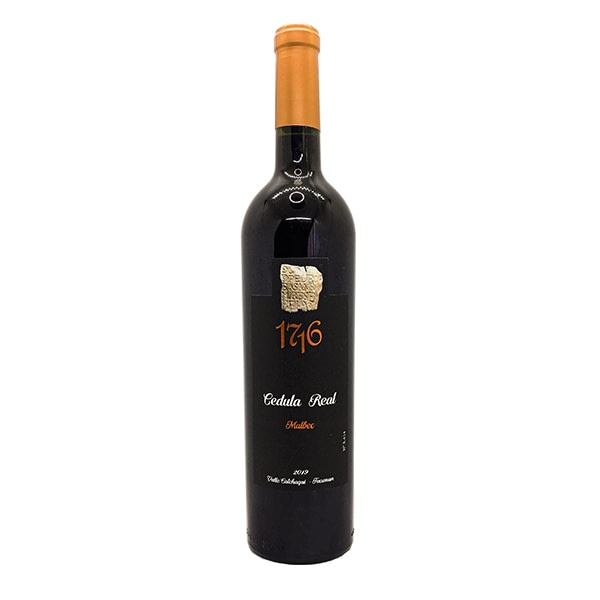 vino cédula real 1716 malbec