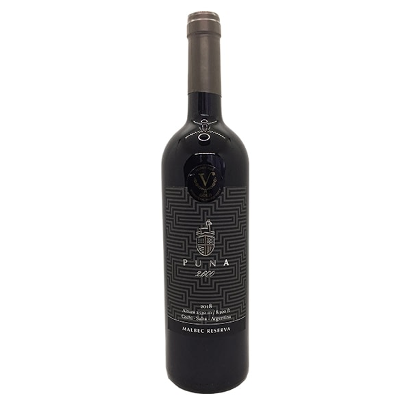 vino puna 2600 reserva malbec